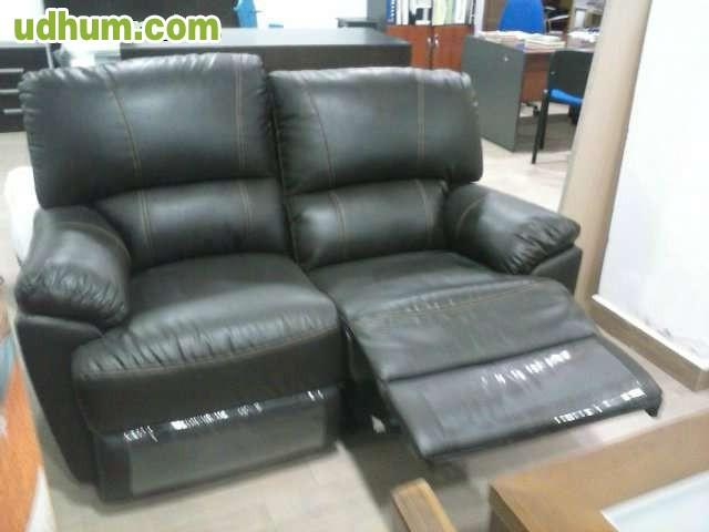 Sofa 3 mas 2 piel relax for Sofa gran confort precios