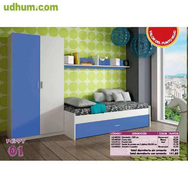 Juvenil completo con armario 299 for Dormitorio completo con armario