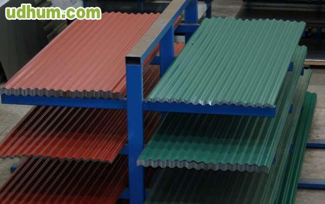 Tubos hierro chapas vallas vigas for Plastico para tejados