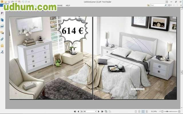 Dormitorio matrimonio blanco barato 614 for Dormitorios modernos en blanco y plata