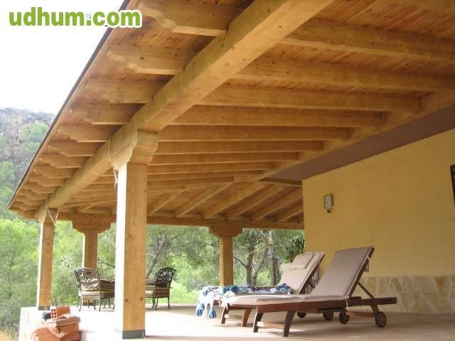 Pergolas jardin pergolas de madera murcia y alicante for Kioscos bares de madera somos fabricantes