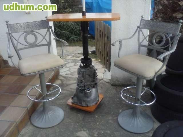 Mesas de jard n y terraza artisticas for Mesas de terraza y jardin baratas