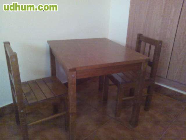 Mesa y sillas de madera infantil - Mesa madera infantil ...