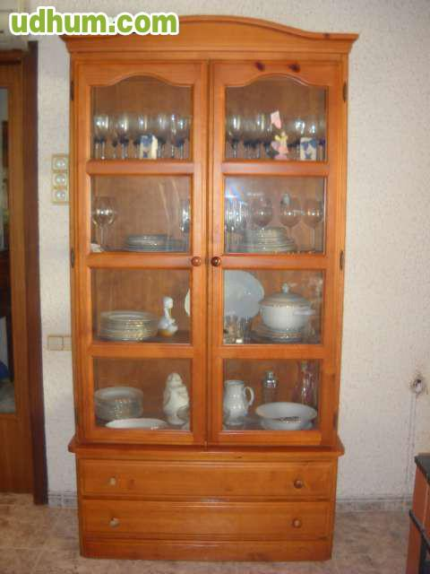 Mueble vitrina aparador r stico madera m - Muebles rusticos barcelona ...