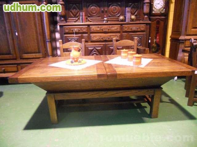 Mesa y sillas roble grandes ofertas for Ofertas de mesas y sillas