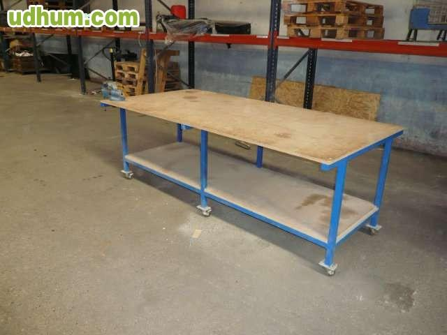 Mesa de trabajo de madera for Madera para mesa de trabajo