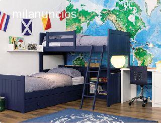 Dormitorios juveniles madera maciza - Dormitorios juveniles de madera maciza ...