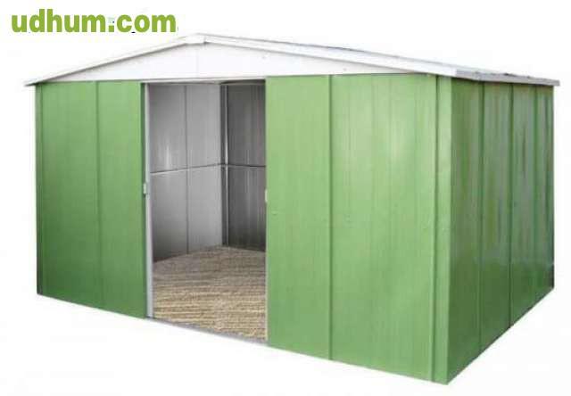 Casetas de jardin y covertizos metalicos for Casetas metalicas a medida