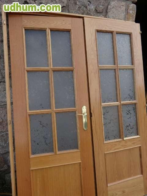 Puerta doble con cristales para salon - Cristales puertas salon ...