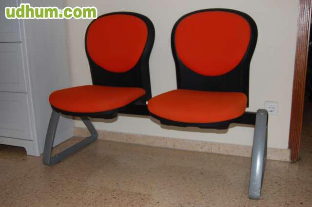 Liquidaci n bancada 2 sillas sala espera for Liquidacion mesas sillas jardin