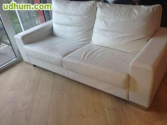 Sofa piel blanco bien conservado - Sofa piel blanco ...