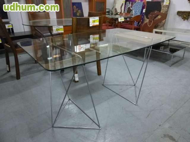 Mesa despacho cristal ref 1254 - Mesa cristal despacho ...