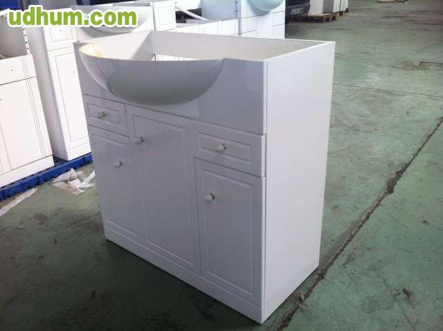 Armarios De Baño Romi: blanco súper brillo de 80 centímetros  Cantidad mínima 25 unidades