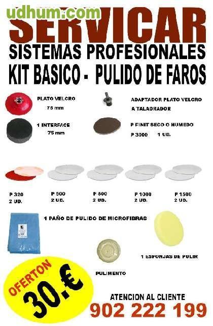 Kit basico indasa profesional - Kit de pulido de faros ...
