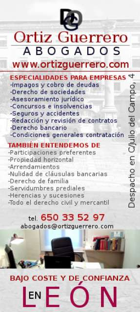 Ortiz guerrero abogado for Precio abogado clausula suelo