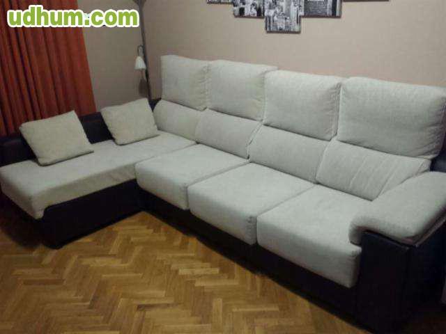Sofa chaiselonge rustika for Sofas tela rustika