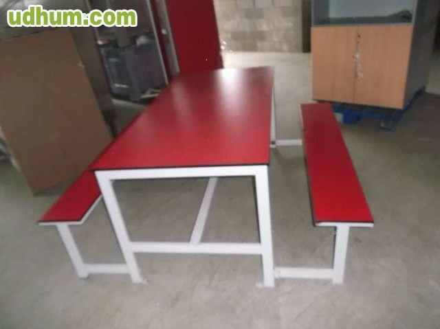 Mesa con banco - Mesa con bancos ...