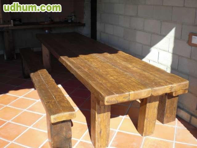 Mesas de madera rusticas tratadas - Mesa comedor madera rustica ...