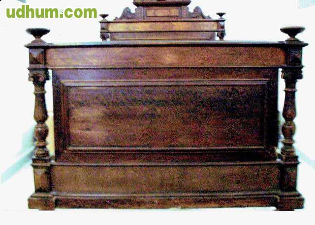 Cama antigua alfonsina de madera d nogal - Camas de madera antiguas ...