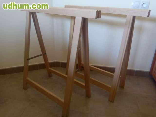 Caballetes y tablero para mesa - Caballetes para tableros ...