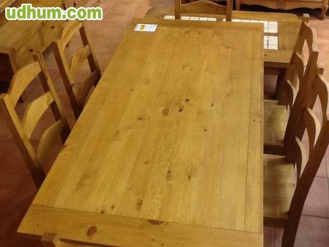 Mesa madera 6 sillas - Rastro remar zaragoza ...