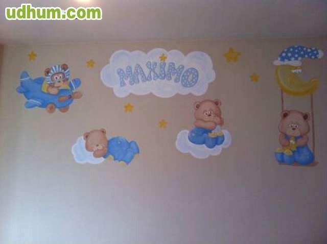 Murales infantiles habitacion bebe for Murales habitacion bebe