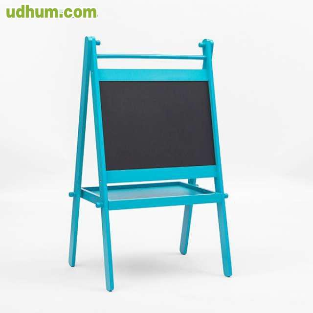 Pizarra infantil doble color azul - Pizarra para pintar ...