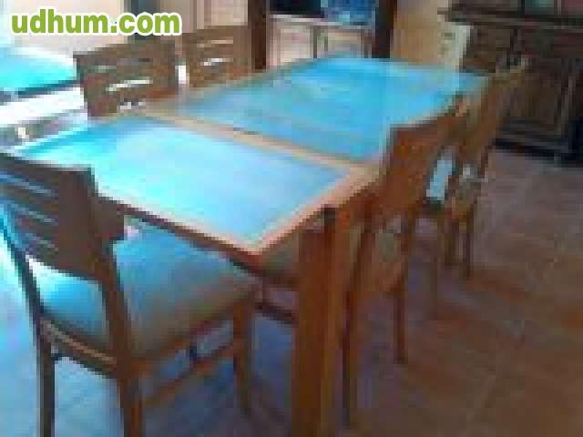 Mesas con sillas super baratas for Mesas de madera baratas