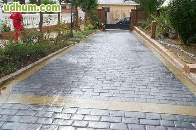 Hormigon impreso y pulido salamanca 1 for Pavimentos para jardines exteriores