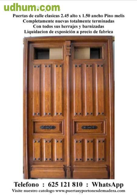 Puertas de madera clasicas de calle 1 for Puertas de calle rusticas