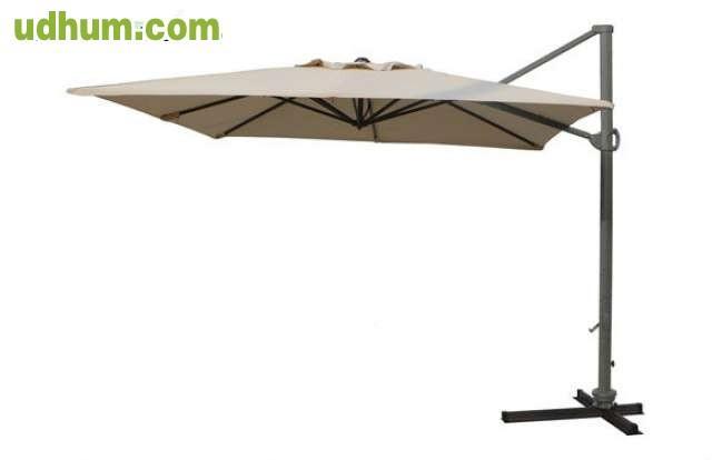 parasol electra impermeable 3x3 m. Black Bedroom Furniture Sets. Home Design Ideas