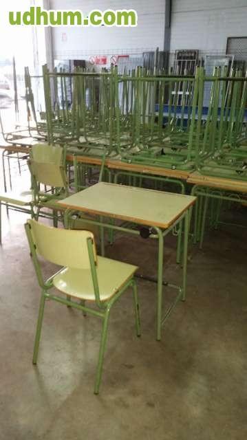 Mesas pupitre de colegio de ni os for Mobiliario para parvulos