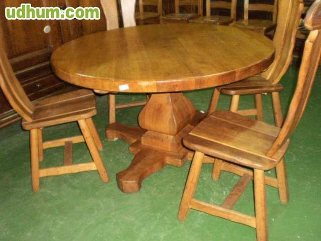 Mesas y sillas rusticas romueble for Mesas y sillas rusticas
