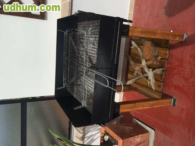 Barbacoa de hierro y madera - Barbacoas de hierro para lena ...