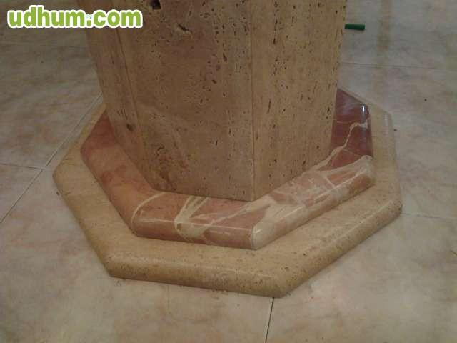 Mesa cristal y marmol travertino pulido for Vendo marmol travertino
