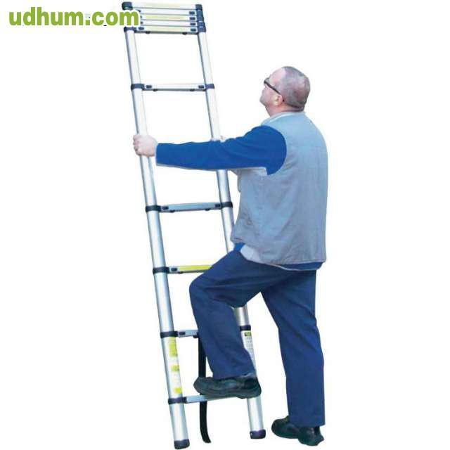 Escalera de aluminio telesc pica 3 2 m for Escaleras 4 metros