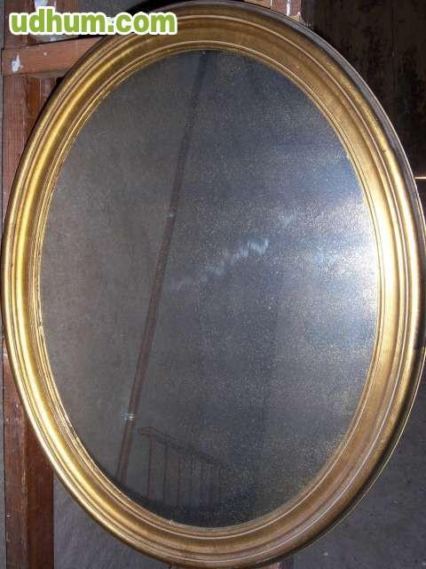 Espejo ovalado dorado for Espejo ovalado dorado