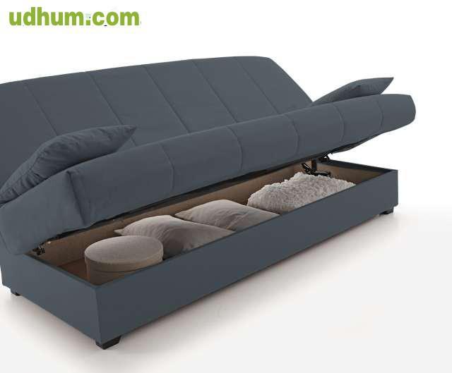 Sofa cama con arc n de almacenaje for Sofa con almacenaje