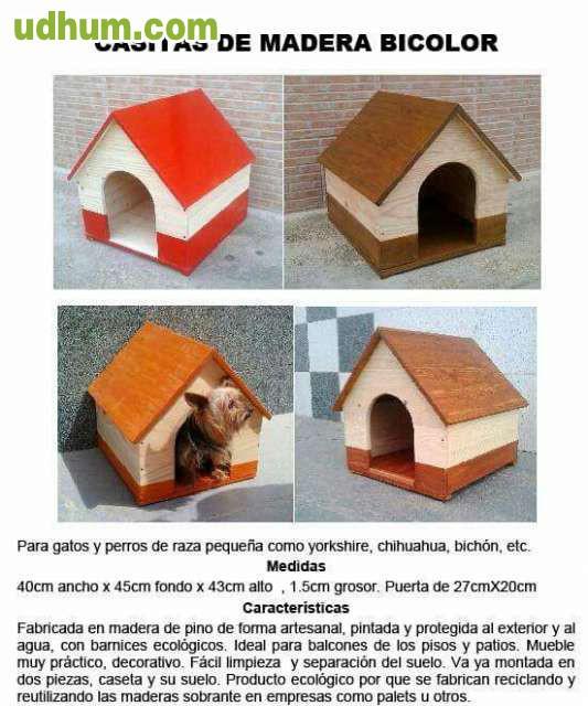 Casita madera artesanal perros - Casitas pequenas de madera ...
