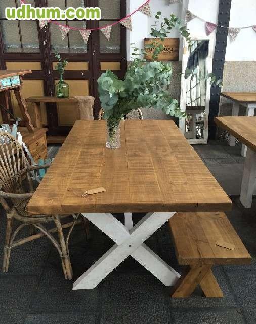 Mesa a medida madera maciza vintage 1 for Mesa vintage madera