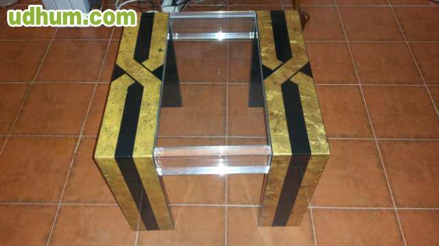 3 mesas cristal lacada metacrilato - Mesas nido metacrilato ...