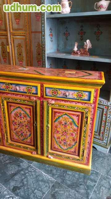 Muebles de la india pintado 1 - Muebles en pontevedra ciudad ...