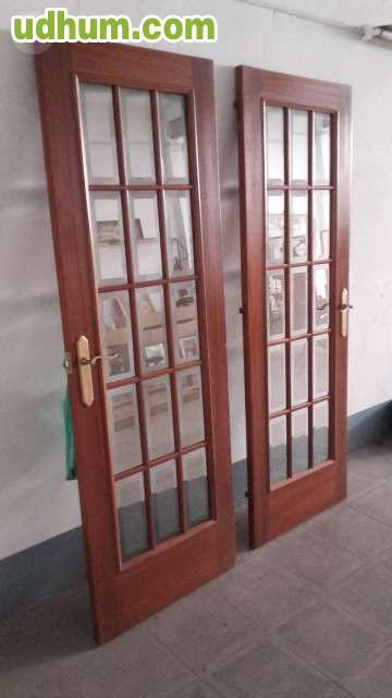 Puertas de madera con cristales vicelad for Cristales para puertas de madera
