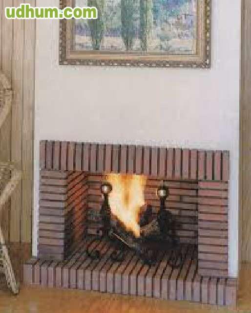 Montaje chimeneas insertos estufas decor - Chimeneas de ladrillo visto ...
