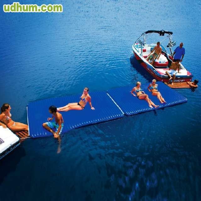 Colchoneta hinchable piscina playa for Colchonetas piscina