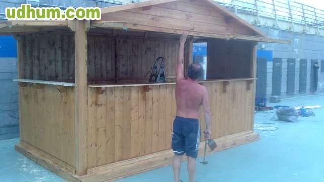 Fabricacion de chiringuitos for Alquiler chiringuito madera