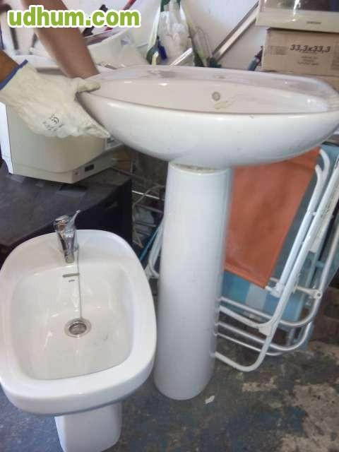Mampara videl y lavabo de mano for Lavabos segunda mano