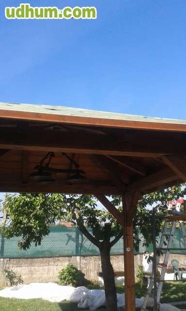 Estructuras de madera p rgolas tejados - Estructuras de madera para tejados ...