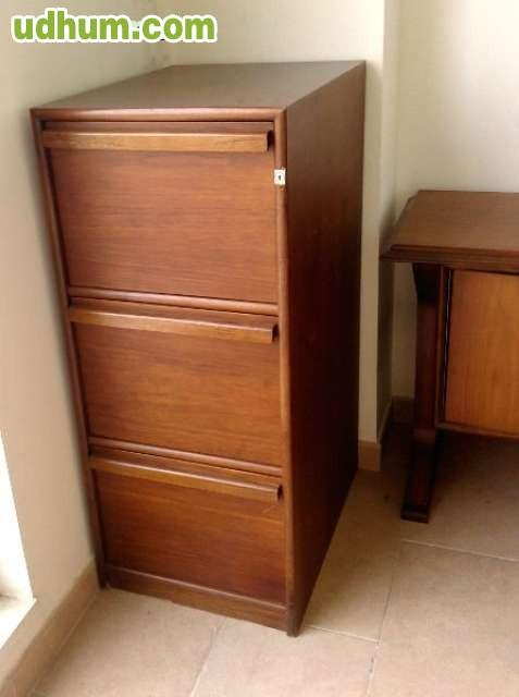 Archivador de madera oficina 3 cajones - Cajones de madera ...