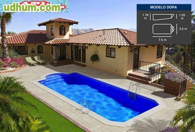 Instalacion de piscinas de poliester for Oferta piscina poliester